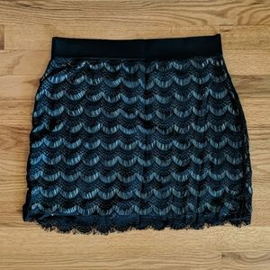 Black Free people lace skirt, like new